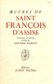 Oeuvres de Saint François d'Assise - Couverture - Format classique