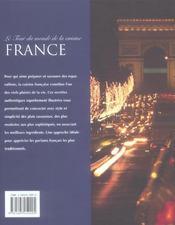 Le tour du monde de la cuisine ; france - 4ème de couverture - Format classique