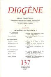 Diogene - problemes du langage, ii - Couverture - Format classique