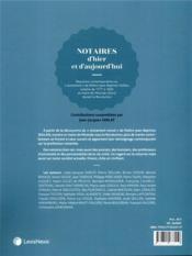 Notaires d'hier et d'aujourd'hui - 4ème de couverture - Format classique