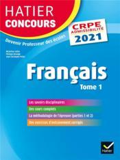 Français t.1 ; CRPE (édition 2021) - Couverture - Format classique