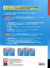 Français t.1 ; CRPE (édition 2021) - 4ème de couverture - Format classique