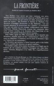 La Frontiere - 4ème de couverture - Format classique