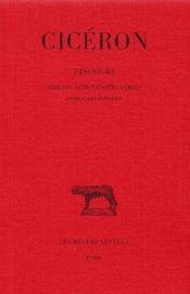 Discours t.6 - Couverture - Format classique