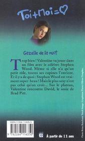 Toi+moi=coeur T.17 ; Gazelle De La Nuit - 4ème de couverture - Format classique