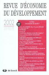 Revue D'Economie Du Developpement N.3/4 - Intérieur - Format classique