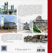 Brest ; esquisses d'une ville - 4ème de couverture - Format classique