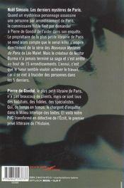 Les Derniers Mysteres De Paris - 4ème de couverture - Format classique