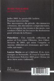 Or Noir Peur Blanche - 4ème de couverture - Format classique