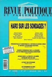 Revue Politique Et Parlementaire Haro Sur Les Sondages - Couverture - Format classique
