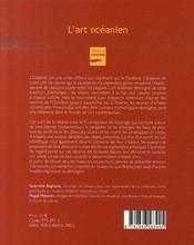 L'art océanien - 4ème de couverture - Format classique