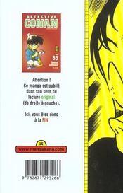 Detective Conan T35 - 4ème de couverture - Format classique