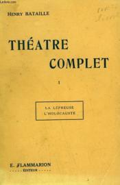 Theatre Complet. Tome 1 : La Lepreuse Suivi De L'Holocauste. - Couverture - Format classique