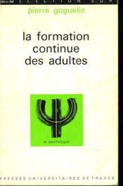La Formation Continue Des Adultes - Couverture - Format classique