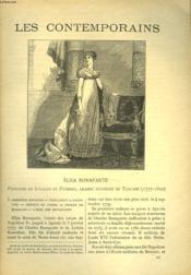 Les Contemporains N°604. Elisa Bonaparte. Pricesse De Luques Et Piombino, Grande Duchesse De Toscane (1777-1820). - Couverture - Format classique