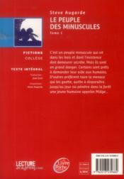 Le peuple des minuscules - 4ème de couverture - Format classique