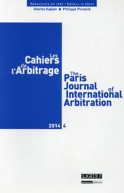 Les Cahiers De L'Arbitrage ; 4/2014 - Couverture - Format classique