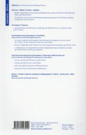 Les Cahiers De L'Arbitrage ; 4/2014 - 4ème de couverture - Format classique