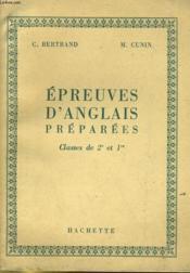 EPREUVES D'ANGLAIS PREPAREES - CLASSES DE 2e ET 1re - Couverture - Format classique