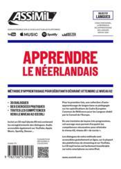 Apprendre le néerlandais ; débutants A2 - 4ème de couverture - Format classique