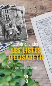 Les listes d'Elisabeth - Couverture - Format classique