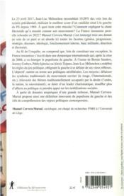 Le populisme de gauche : sociologie de la France insoumise - 4ème de couverture - Format classique