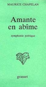 Amante en abîme ; symphonie poétique - Couverture - Format classique