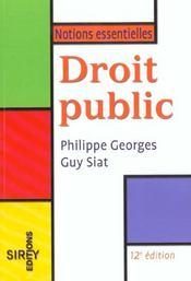 Droit Public ; 12e Edition - Intérieur - Format classique
