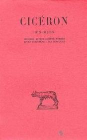 Discours t.7 - Couverture - Format classique