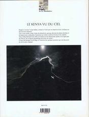 Le Kenya Vu Du Ciel - 4ème de couverture - Format classique