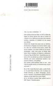 Qui si je criais... ? oeuvres-témoignages dans les tourmentes du xx siècle - 4ème de couverture - Format classique
