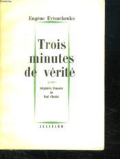 Trois Minutes De Verite. - Couverture - Format classique