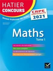Mathématiques t.1 ; CRPE - Couverture - Format classique