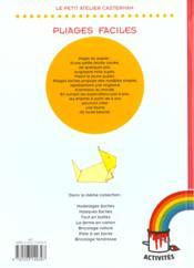 Pliages faciles - 4ème de couverture - Format classique