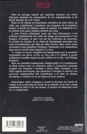 Bach en son temps - 4ème de couverture - Format classique