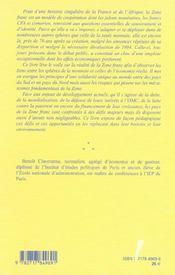 La Zone Franc : Au-Dela De La Monnaie - 4ème de couverture - Format classique