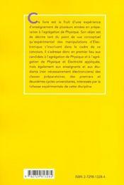 Electronique Experimentale - 4ème de couverture - Format classique
