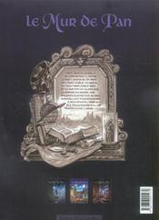 Le mur de Pan t.1 ; Mavel coeur d'élue (édition 2006) - 4ème de couverture - Format classique