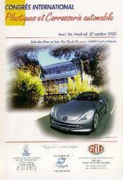 Plastiques et carrosserie automobile ; congres international 26-27 octobre 2000 - Couverture - Format classique