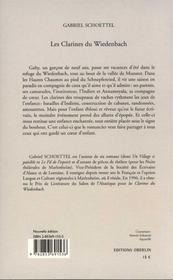 Les Clarines Du Wiedenbach - 4ème de couverture - Format classique