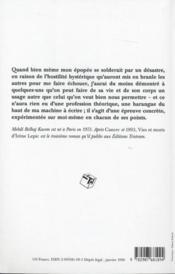 Vies et morts d'irène lepic - 4ème de couverture - Format classique