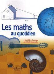 Les maths au quotidien - Couverture - Format classique