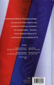 Dictionnaire officiel Olympique Lyonnais - 4ème de couverture - Format classique
