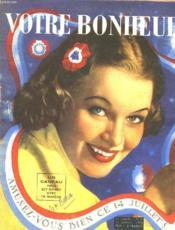 VOTRE BONHEUR, 1re ANNEE, N° 23, JUILLET 1938 - Couverture - Format classique