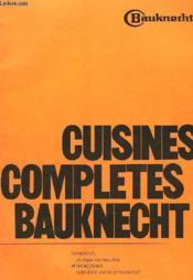 Cuisines Completes Bauknecht - Couverture - Format classique
