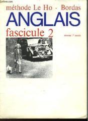 ANGLAIS FASCICULE II - NIVEAU 1ère ANNEE - Couverture - Format classique
