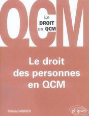 Le Droit Des Personnes En Qcm - Intérieur - Format classique