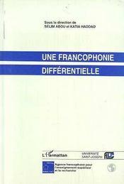 Une Francophonie Differentielle - Intérieur - Format classique