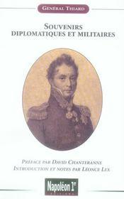 Souvenirs diplomatiques et militaires du général Thiard - Intérieur - Format classique