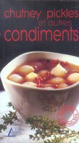 Chutney, pickles et autres condiments - Intérieur - Format classique